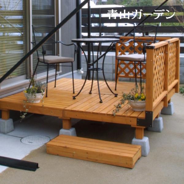 ウッドデッキ セット/システムデッキ 1坪 ナチュラル/SDW-N/DIY/木製デッキ/梱包サイズ特大|garden