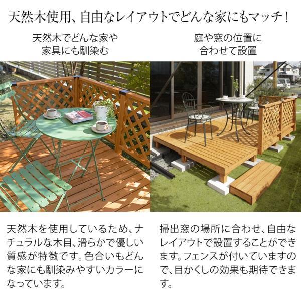 ウッドデッキ セット/システムデッキ 1坪 ナチュラル/SDW-N/DIY/木製デッキ/梱包サイズ特大|garden|03