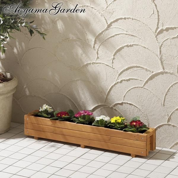 プランター 家庭菜園/ ウッドテラスプランター ナチュラル 90cm WOP-90N /木製/ベランダ/ガーデニング|garden