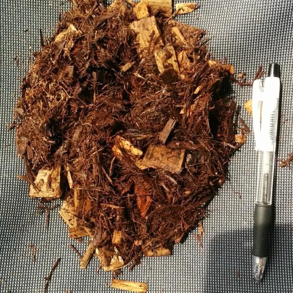 兵庫県産スギ・ヒノキ ウッドチップ・バーク&チップ 50L×20袋セット:1000L:舗装厚5cm時・20平米分|gardenas-kobe