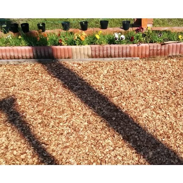 兵庫県産スギ・ヒノキ ウッドチップ・チップ単体Aタイプ 50L×50袋セット:2500L:舗装厚5cm時・50平米分|gardenas-kobe|02