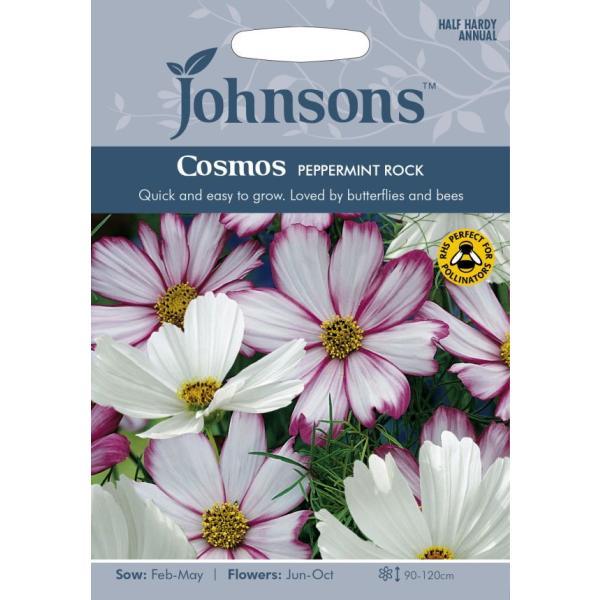 【輸入種子】 Johnsons Seeds Cosmos Peppermint Rock コスモス ペパーミント・ロック ジョンソンズシード