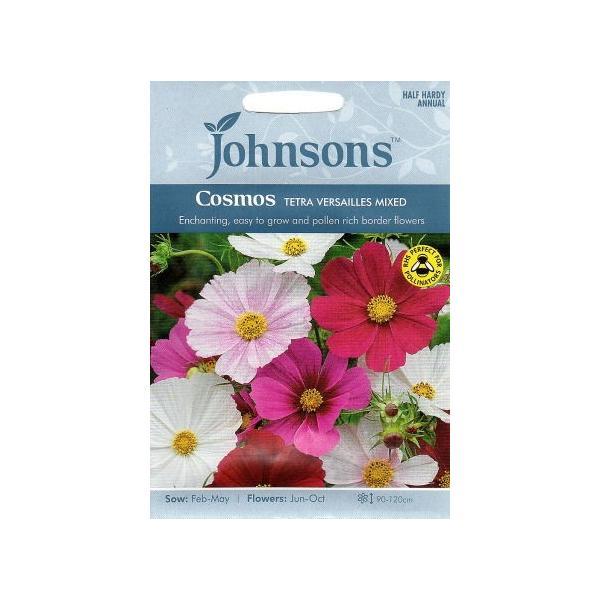 【輸入種子】Johnsons Seeds Cosmos Tetra Versailles Mixed コスモス・テトラ・ベルサイユ・ミックス ジョンソンズシード