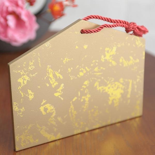 正月飾り ウッド絵馬ベース  和モダン 正月 手作り 材料 パーツ 玄関 縁起 和風 おしゃれ 楽しく 準備