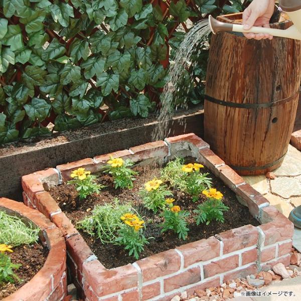 花壇ブロック レンガ調 カーブ 4個セット 土止め 花壇 柵 花壇ブロック|gardenyouhin|04