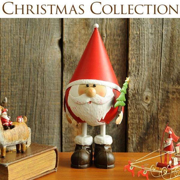 クリスマス 雑貨 オブジェ 飾り 置物 インテリア 三角帽子まるまるサンタ S