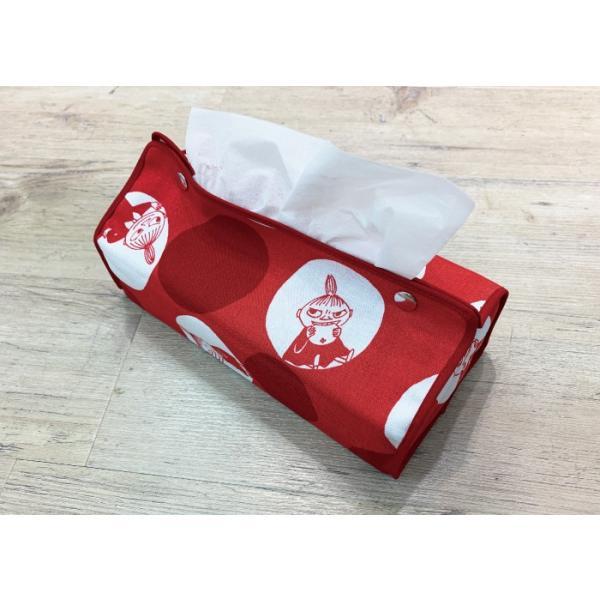 ムーミン ティッシュケース ポルカドットのミイ メール便 送料無料 かわいい おしゃれ 子供 便利 北欧 フィンランド moomin QUARTER REPORT|gardiner|07