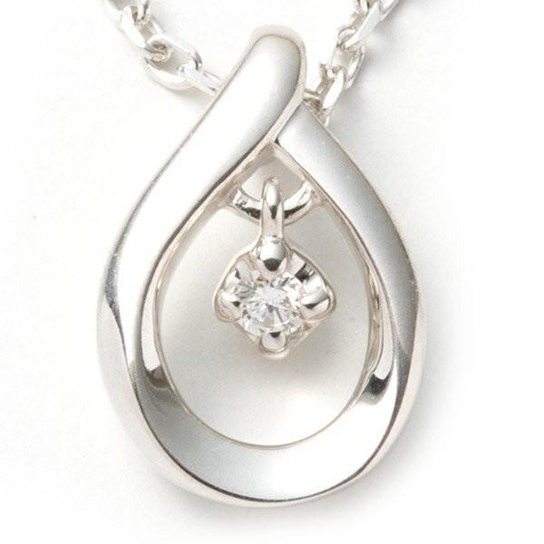 4℃ ヨンドシー ネックレス レディース ダイヤモンド シルバー しずく 揺れる 4C アクセサリー ジュエリー ペンダント 可愛い シンプル garlandstore 02