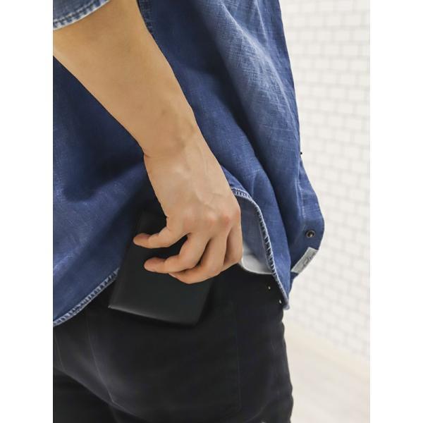 名入れ ポールスミス 財布二つ折り財布 ブラック 黒×マルチストライプ M1A 4833 AMULTI 79 薄型財布 プレゼント 刻印|garlandstore|11