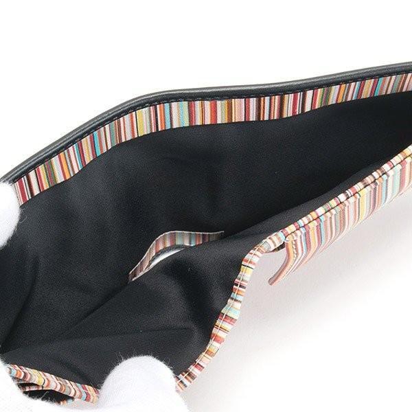 名入れ ポールスミス 財布二つ折り財布 ブラック 黒×マルチストライプ M1A 4833 AMULTI 79 薄型財布 プレゼント 刻印|garlandstore|08