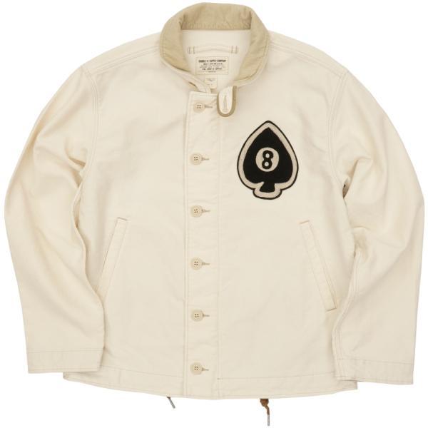 (ダブルアールエル) RRL ジャングル クロス デッキジャケット ワッペン メンズ ナチュラル Jungle Cloth Deck Jacket Natural
