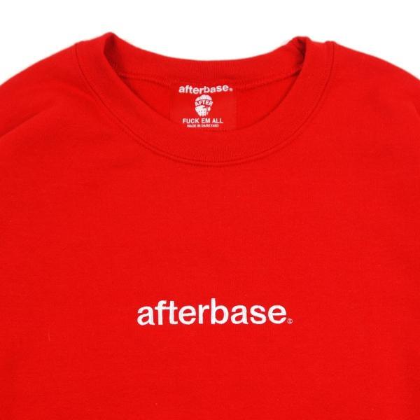 afterbase アフターベース クルースウェット EMBROIDERY LOGO CREWNECK SWEAT 6カラー|garyujp|09