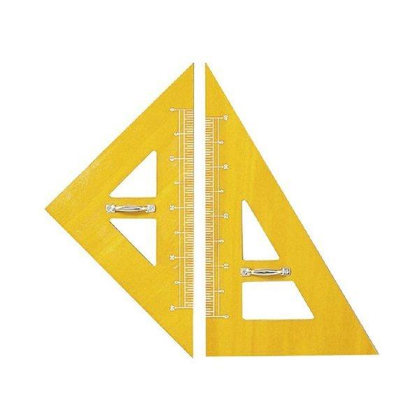 木製三角定規(2ヶ1組) 595mm No.11-301