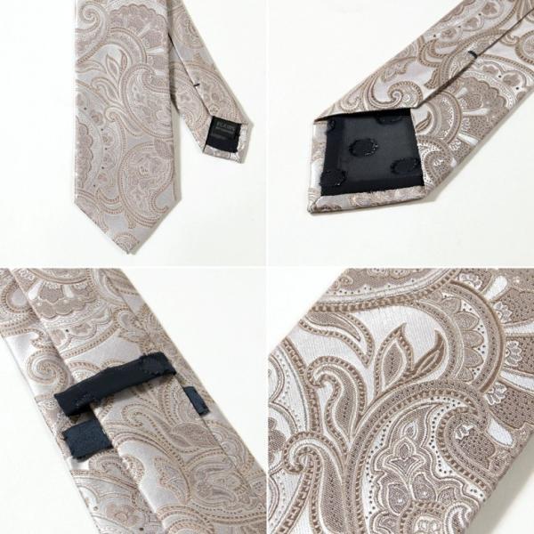 BIGLIDUE ペイズリー 柄 シルク 絹 ネクタイ 結婚式 二次会 パーティー ブランド|gauss|05