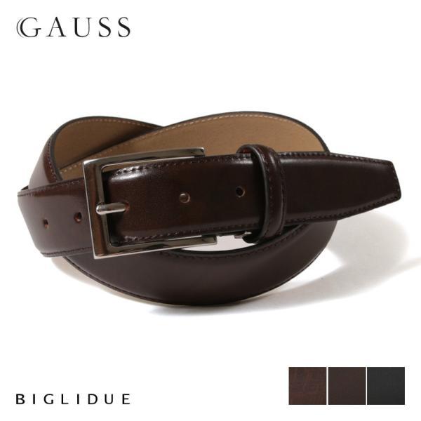 BIGLIDUE スペイン レザー 本革ベルト メンズ 革 男性用 ベルト バッグ 小物 ブランド雑貨 結婚式 二次会 パーティー ブランド|gauss