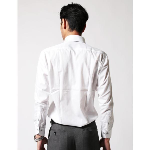メンズ ワイシャツ 結婚式 二次会 スーツ BIGLIDUE デュエボットーニ カラー ボタンダウン 長袖 シャツ カジュアルシャツ パーティー ブランド|gauss|05