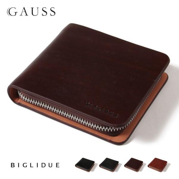 メンズ 財布 BIGLIDUE 上質 イタリア 本革 レザー ラウンドファスナー 財布 ウォレット 小物 雑貨 結婚式 二次会 パーティー ブランド|gauss