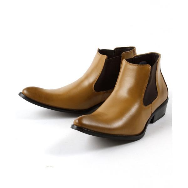 本革 レザー サイドゴア ブーツ メンズ 靴 シューズ 結婚式 二次会 パーティー ブランド Black on TETE HOMME|gauss|03