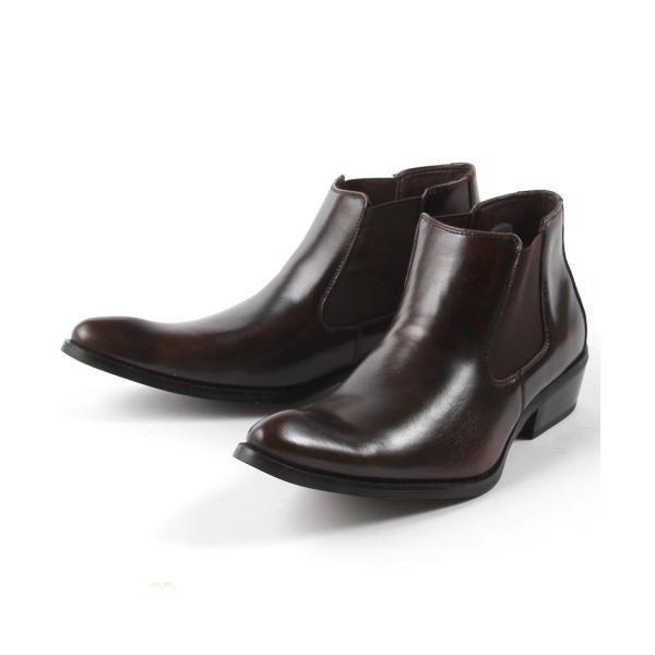 本革 レザー サイドゴア ブーツ メンズ 靴 シューズ 結婚式 二次会 パーティー ブランド Black on TETE HOMME|gauss|04