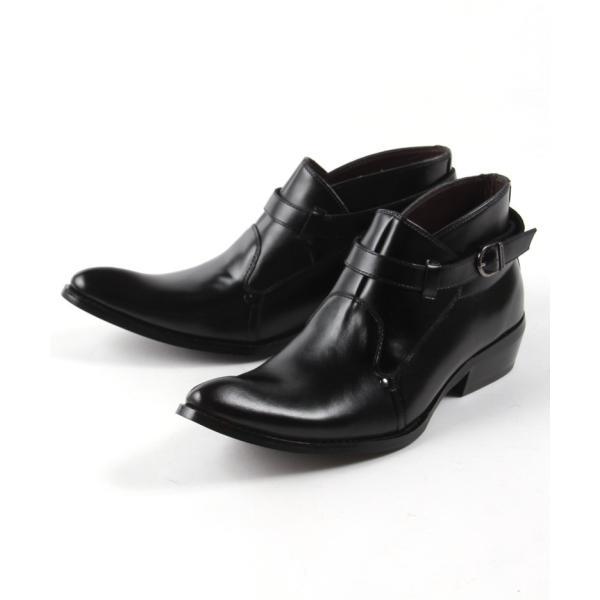 モンク 本革 レザー ブーツ メンズ靴 靴 シューズ 結婚式 二次会 パーティー ブランド Black on TETE HOMME ダブルモンク|gauss|02