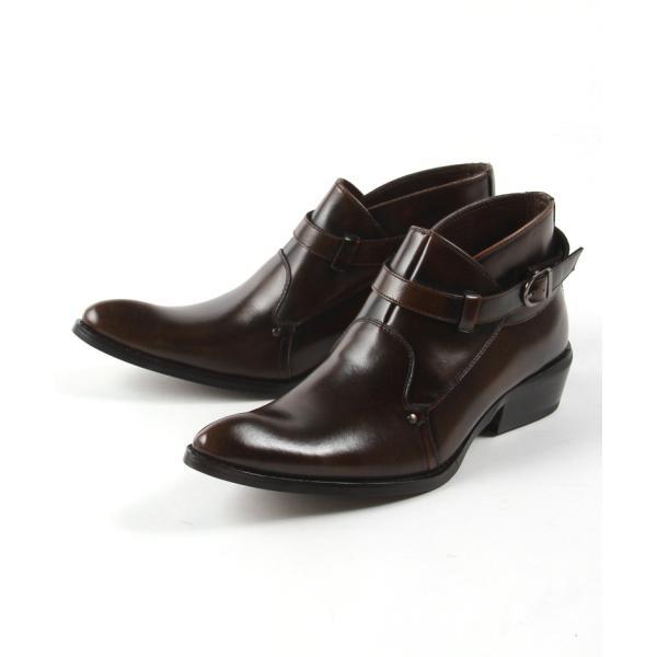 モンク 本革 レザー ブーツ メンズ靴 靴 シューズ 結婚式 二次会 パーティー ブランド Black on TETE HOMME ダブルモンク|gauss|03