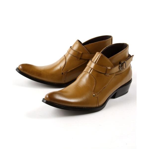 モンク 本革 レザー ブーツ メンズ靴 靴 シューズ 結婚式 二次会 パーティー ブランド Black on TETE HOMME ダブルモンク|gauss|04