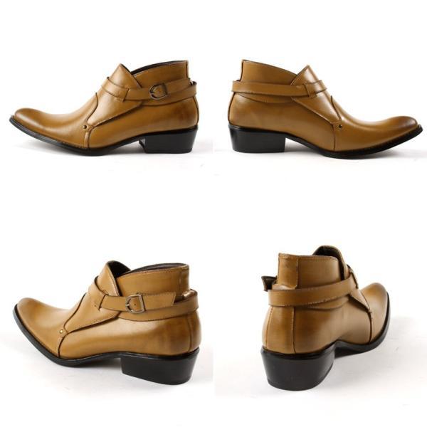 モンク 本革 レザー ブーツ メンズ靴 靴 シューズ 結婚式 二次会 パーティー ブランド Black on TETE HOMME ダブルモンク|gauss|05