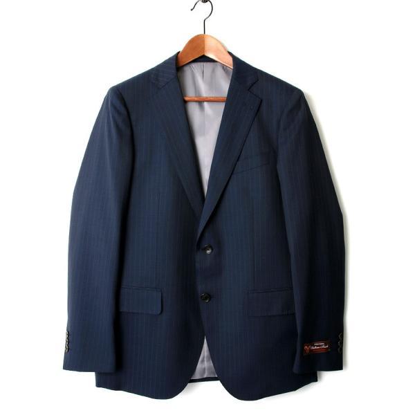 BIGLIDUE ストライプ 2B スーツ セットアップ シングル メンズファッション 結婚式 二次会 パーティー ブランド|gauss|02