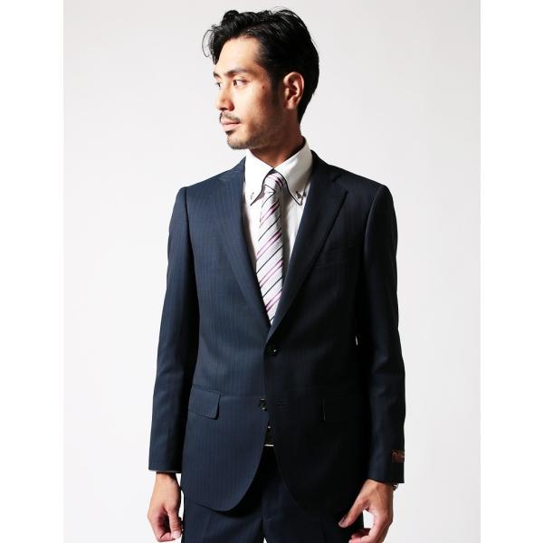 BIGLIDUE ストライプ 2B スーツ セットアップ シングル メンズファッション 結婚式 二次会 パーティー ブランド|gauss|03