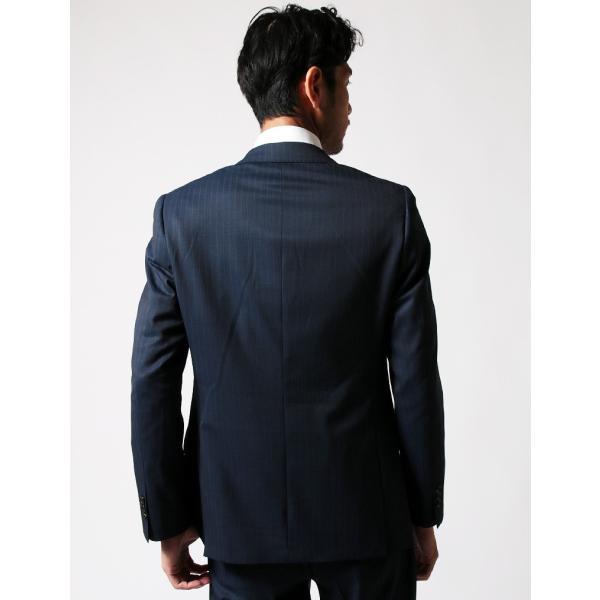 BIGLIDUE ストライプ 2B スーツ セットアップ シングル メンズファッション 結婚式 二次会 パーティー ブランド|gauss|04