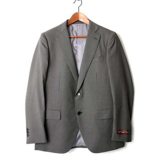 セットアップ シングル メンズ スーツ 結婚式 二次会 BIGLIDUE ストライプ 2B  パーティー ブランド 上下セット|gauss|02