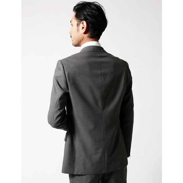 セットアップ シングル メンズ スーツ 結婚式 二次会 BIGLIDUE ストライプ 2B  パーティー ブランド 上下セット|gauss|04
