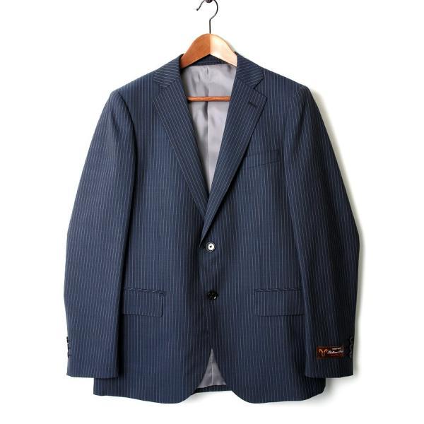 BIGLIDUE ストライプ 2B スーツ セットアップ シングル メンズファッション 結婚式 二次会 パーティー ブランド gauss 02