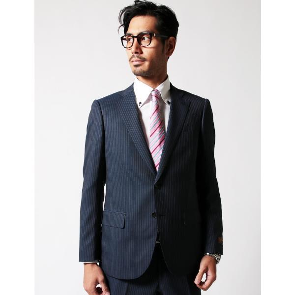 BIGLIDUE ストライプ 2B スーツ セットアップ シングル メンズファッション 結婚式 二次会 パーティー ブランド gauss 03