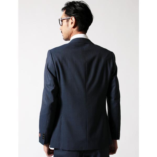 BIGLIDUE ストライプ 2B スーツ セットアップ シングル メンズファッション 結婚式 二次会 パーティー ブランド gauss 04
