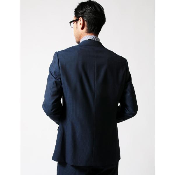 セットアップ シングル メンズ スーツ 結婚式 二次会 BIGLIDUE シャドー ヘリンボーン パーティー ブランド 上下セット|gauss|04
