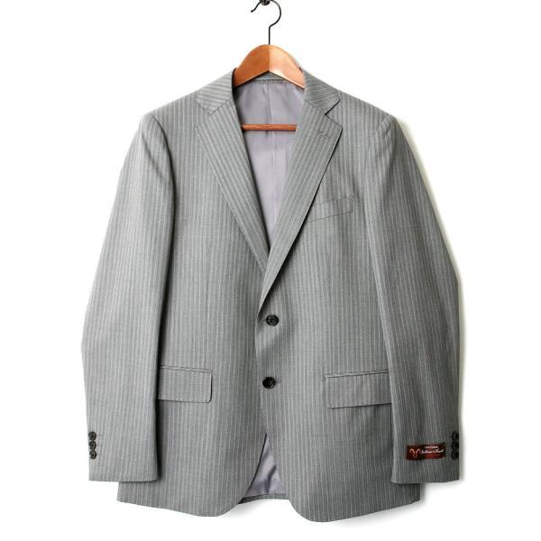 メンズ スーツ セットアップ シングルスーツ 結婚式 二次会 BIGLIDUE ストライプ 2B パーティー ブランド 上下セット モテ|gauss|02