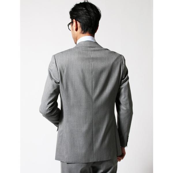 メンズ スーツ セットアップ シングルスーツ 結婚式 二次会 BIGLIDUE ストライプ 2B パーティー ブランド 上下セット モテ|gauss|04