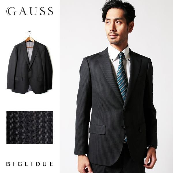 メンズ スーツ セットアップ シングルスーツ 結婚式 二次会 BIGLIDUE ピンストライプ 2B パーティー ブランド お祝い|gauss