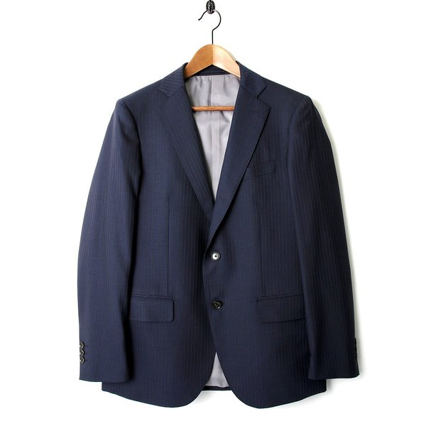 BIGLIDUE ストライプ シングル スーツ セットアップ メンズファッション 結婚式 二次会 パーティー ブランド|gauss|02
