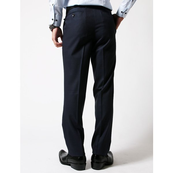 BIGLIDUE ストライプ シングル スーツ セットアップ メンズファッション 結婚式 二次会 パーティー ブランド|gauss|06
