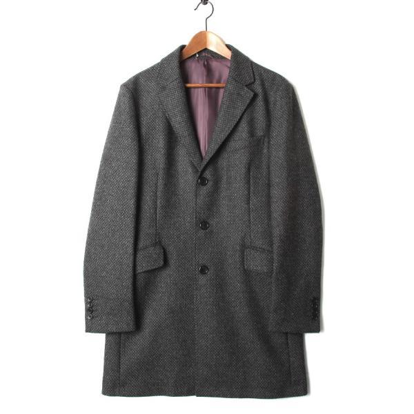 チェスターコート メンズ スーツ 用 コート / アウター 結婚式 二次会 BIGLIDUE 小紋柄 ウール 混 パーティー ブランド|gauss|02