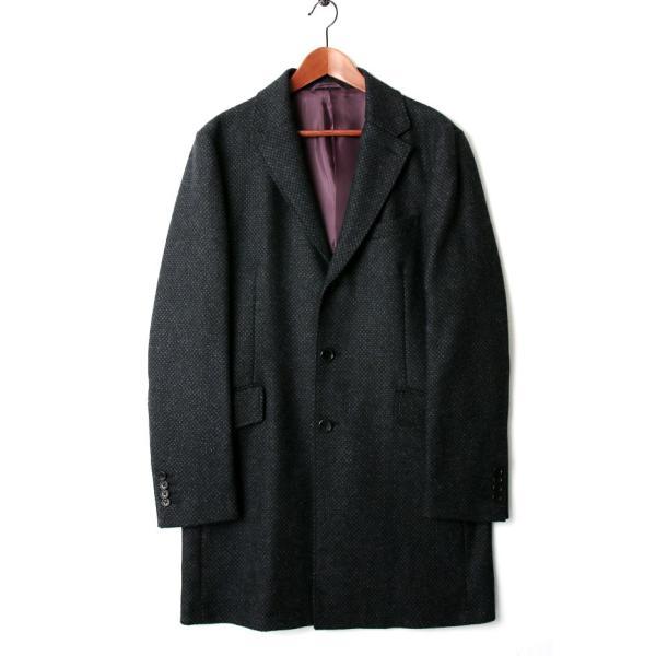 チェスターコート メンズ スーツ 用 コート / アウター 結婚式 二次会 BIGLIDUE 小紋柄 ウール 混 パーティー ブランド|gauss|03