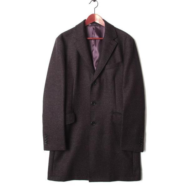 チェスターコート メンズ スーツ 用 コート / アウター 結婚式 二次会 BIGLIDUE 小紋柄 ウール 混 パーティー ブランド|gauss|04