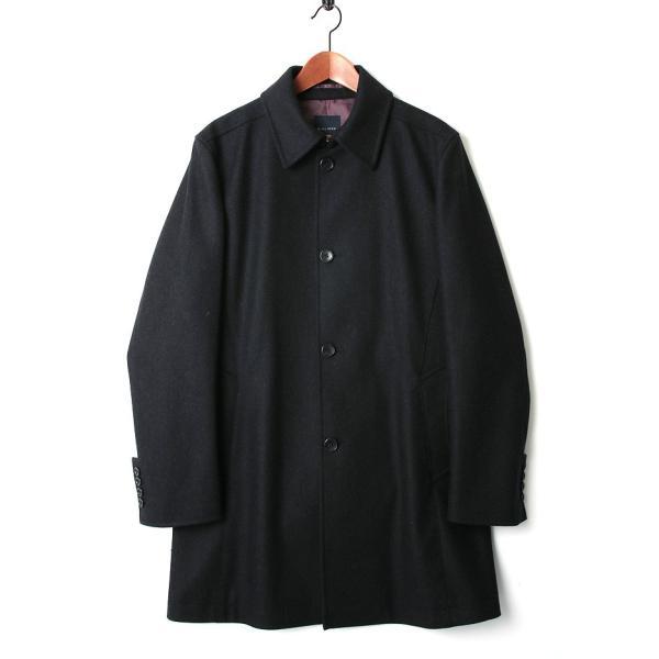ハーフコート メンズ スーツ 用 コート / アウター 結婚式 二次会 BIGLIDUE ヘリンボーン ウール パーティー ブランド ステンカラー|gauss|02