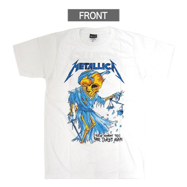 【メール便送料無料】METALLICA メタリカ  BA-0001-WH Their Money Tips Her Scales Again TEE バンドTシャツ|gb-int|02