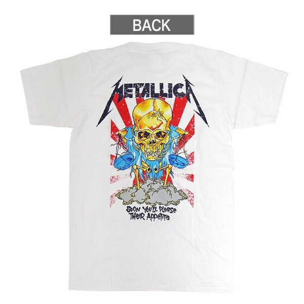 【メール便送料無料】METALLICA メタリカ  BA-0001-WH Their Money Tips Her Scales Again TEE バンドTシャツ|gb-int|03