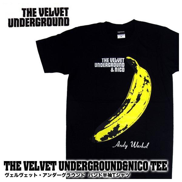 【メール便送料無料】THE VELVET UNDERGROUND ヴェルヴェット・アンダーグラウンド BA-0010-BK THE VELVET UNDERGROUND & NICO TEE バンド|gb-int