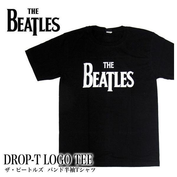 【メール便送料無料】THE BEATLES ビートルズ バンド BG-0001-BK DROP-T LOGO TEE ドロップティー ロゴ バンド 半袖Tシャツ|gb-int