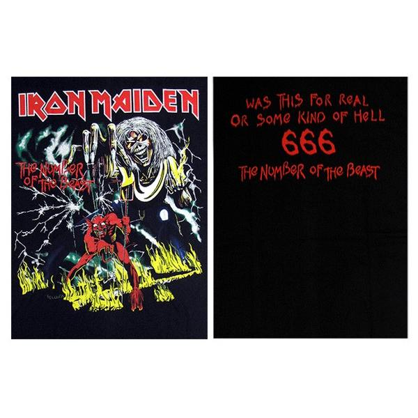 【メール便送料無料】IRON MAIDEN アイアン・メイデン バンドTシャツ BG-0004-BK The Number Of The Beast TEE 半袖Tシャツ gb-int 04